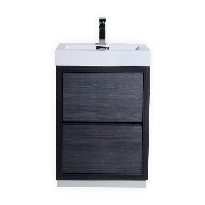 """Modern Lux 24"""" Gray Oak Free Standing Modern Bathroom Vanity"""