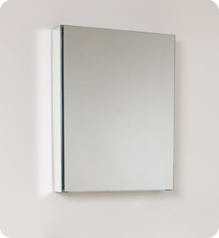 fresca 20 inch wide bathroom medicine mirror cabinet