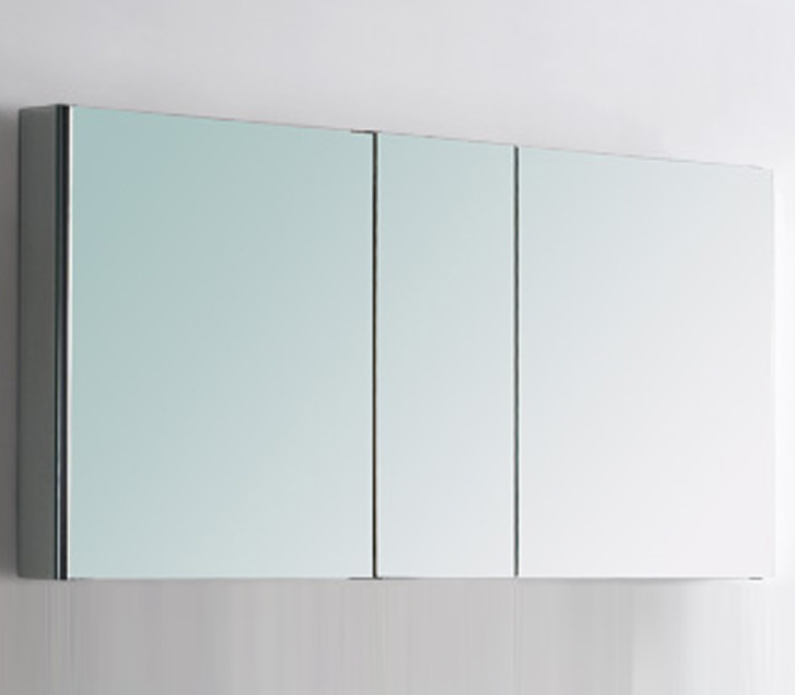 Fresca 50 inch wide bathroom medicine cabinet with mirrors for Bathroom cabinet 8 inches wide