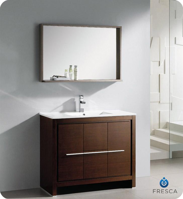 "40"" Modern Bathroom Vanity Wenge Finish"