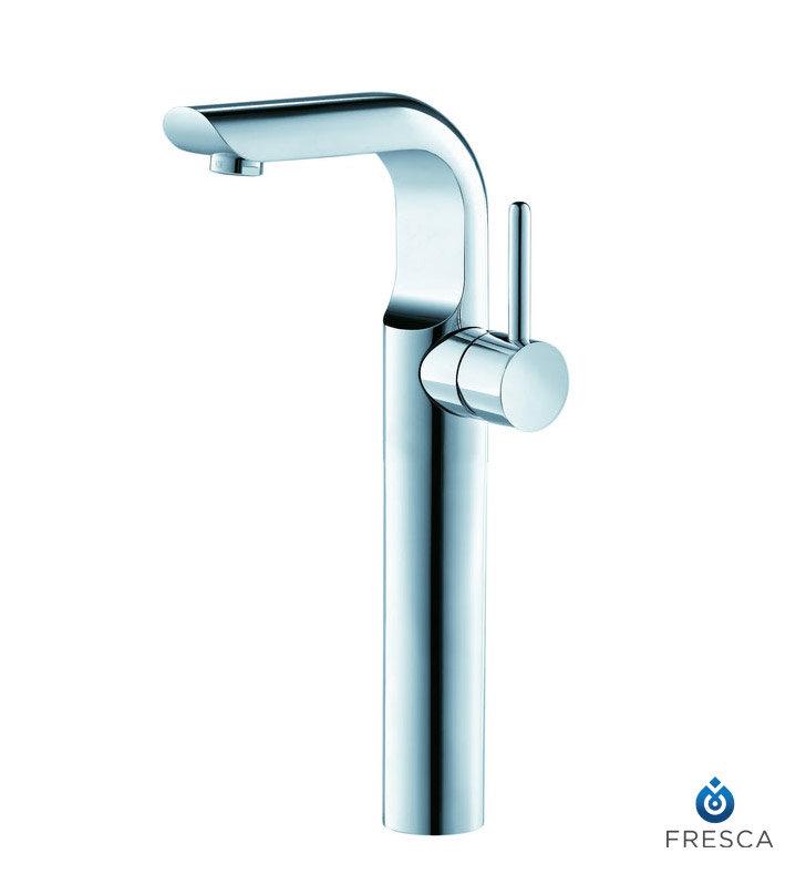 Chrome Single Handle Vessel Mount Lavatory Faucet