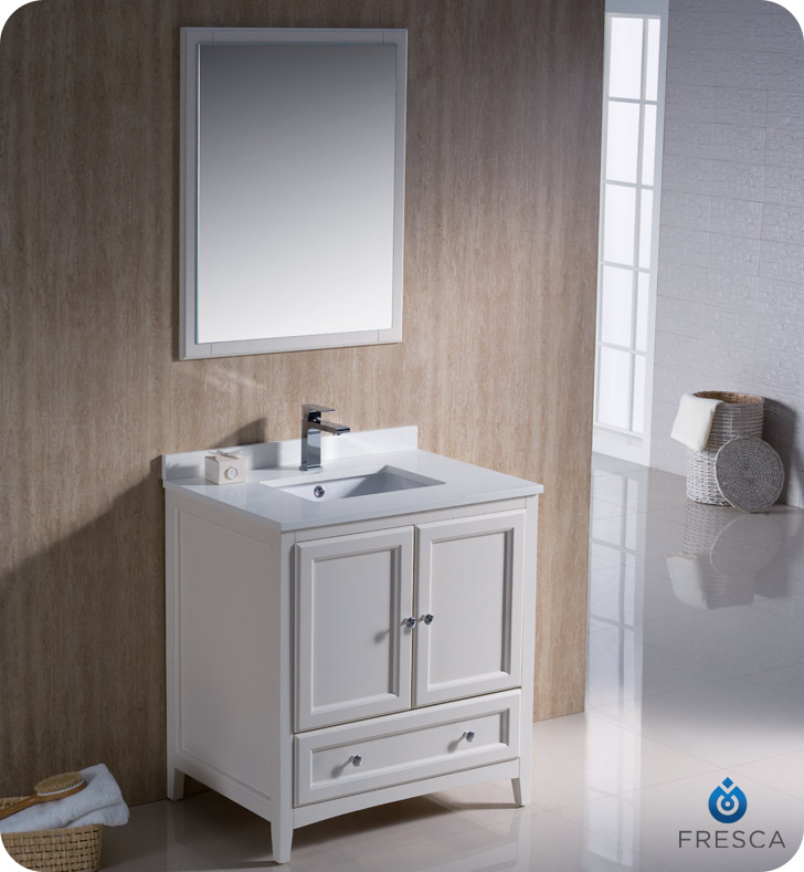 white 30 bathroom vanity fresca oxford collection 30 quot mahogany traditional bathroom 21378