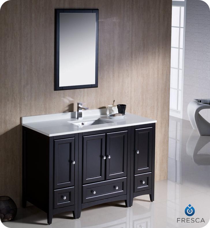 "Oxford 48"" Traditional Bathroom Vanity Espresso Finish"