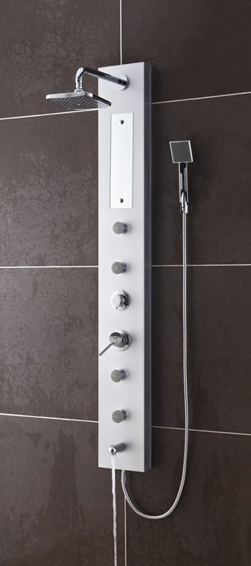 Salerna PVC Silver Shower Massage Panel