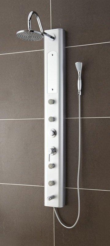 Venezia PVC Silver Shower Massage Panel