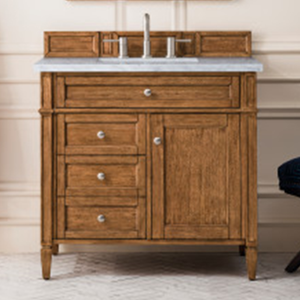 """James Martin Brittany Collection 36"""" Saddle Brown Single Vanity"""
