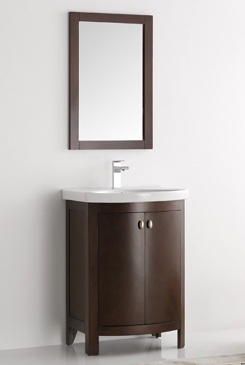24 inch Antique Coffee Finish Traditional Bathroom Vanity