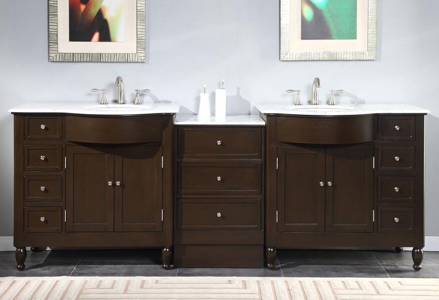 Accord Contemporary 95 inch Modular Bathroom Vanity Espresso Finish