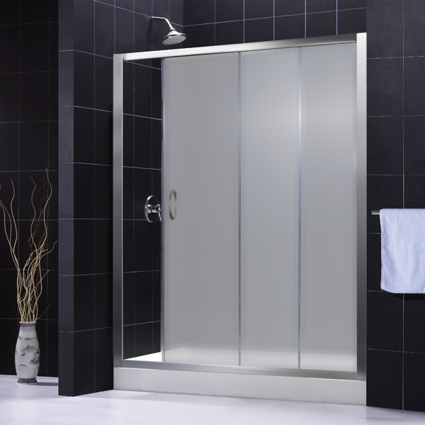 Frosted Shower Doors infinity shower door shdr-1060726 frosted glass