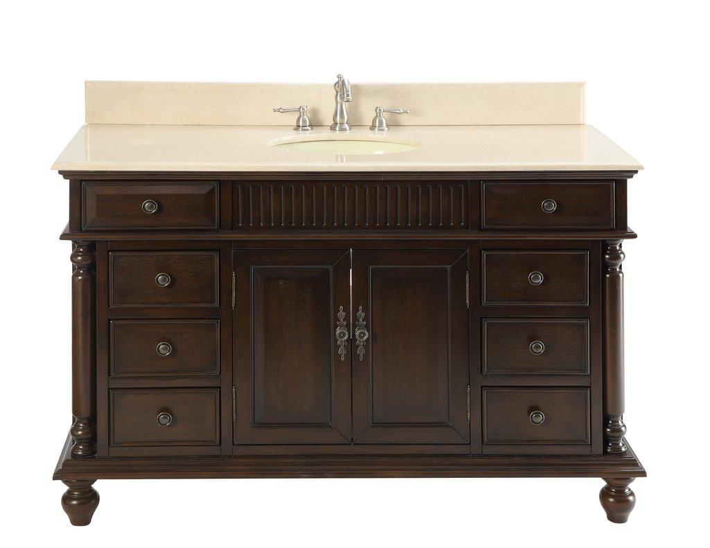 "Adelina 53"" Antique Solid Wood Bathroom Vanity"