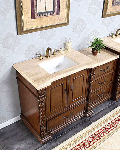 Accord Antique Modular Bathtoom Vanity Roman Vein-Cut Top