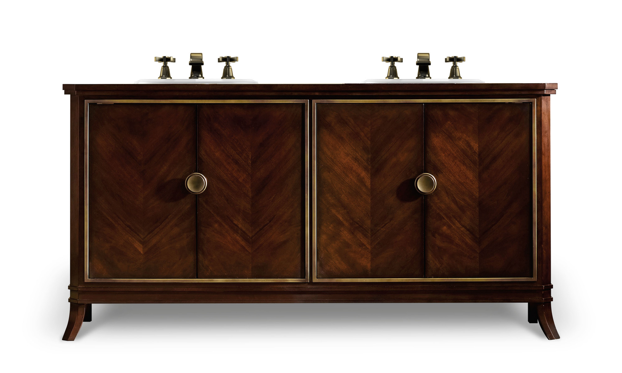 Paxton 68 inch Hall Chest Bathroom Vanity by Cole & Co. Designer Series