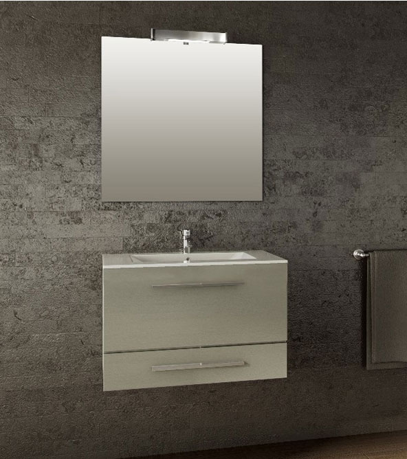 Sella wall mounted metallic gray modern bathroom vanity european contemporary in design - Contemporary european designer bathroom vanities ...