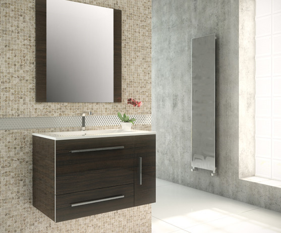 32 inch Wall Mounted Modern Bathroom Vanity Elmwood Finish