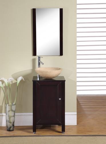 Accord Contemporary 19 inch Single Vessel Sink Bathroom Vanity