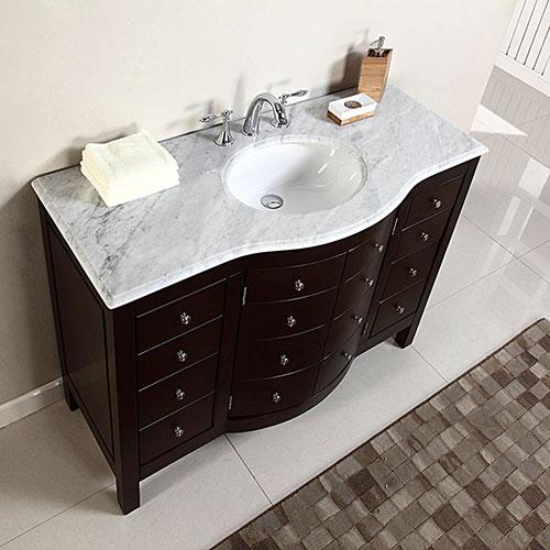 Accord Contemporary 48 inch Contemporary Bathroom Vanity Dark Walnut Finish