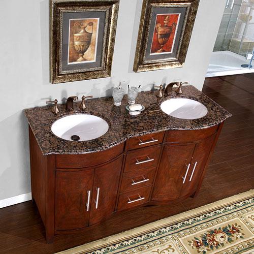 Accord Contemporary 58 inch Double Sink Bathroom Vanity