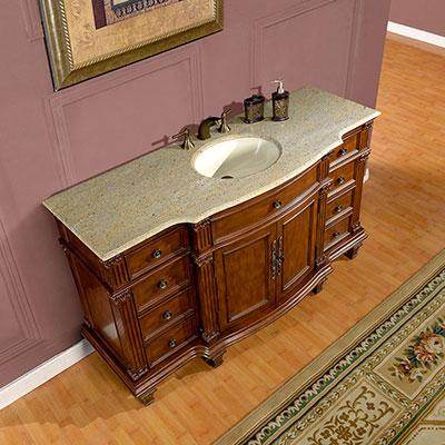 Accord Antique 60 inch Bathroom Vanity Granite Top