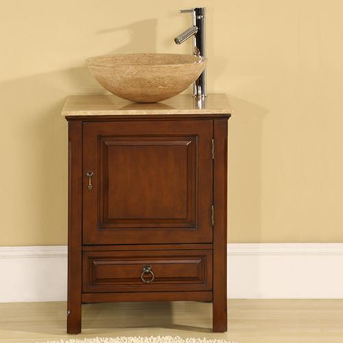 Accord Contemporary 22 inch Single Vessel Sink Bathroom Vanities