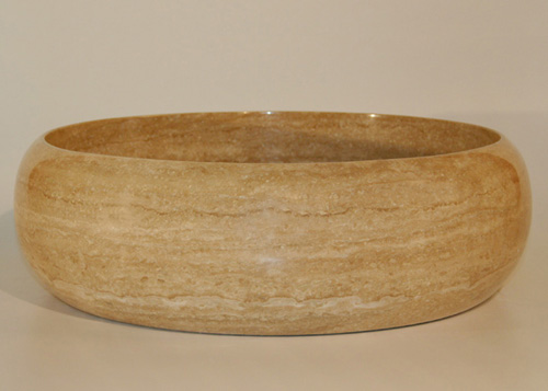 Silkroad Exclusive Natural Travertine Stone Sink Vessel SRS-0043