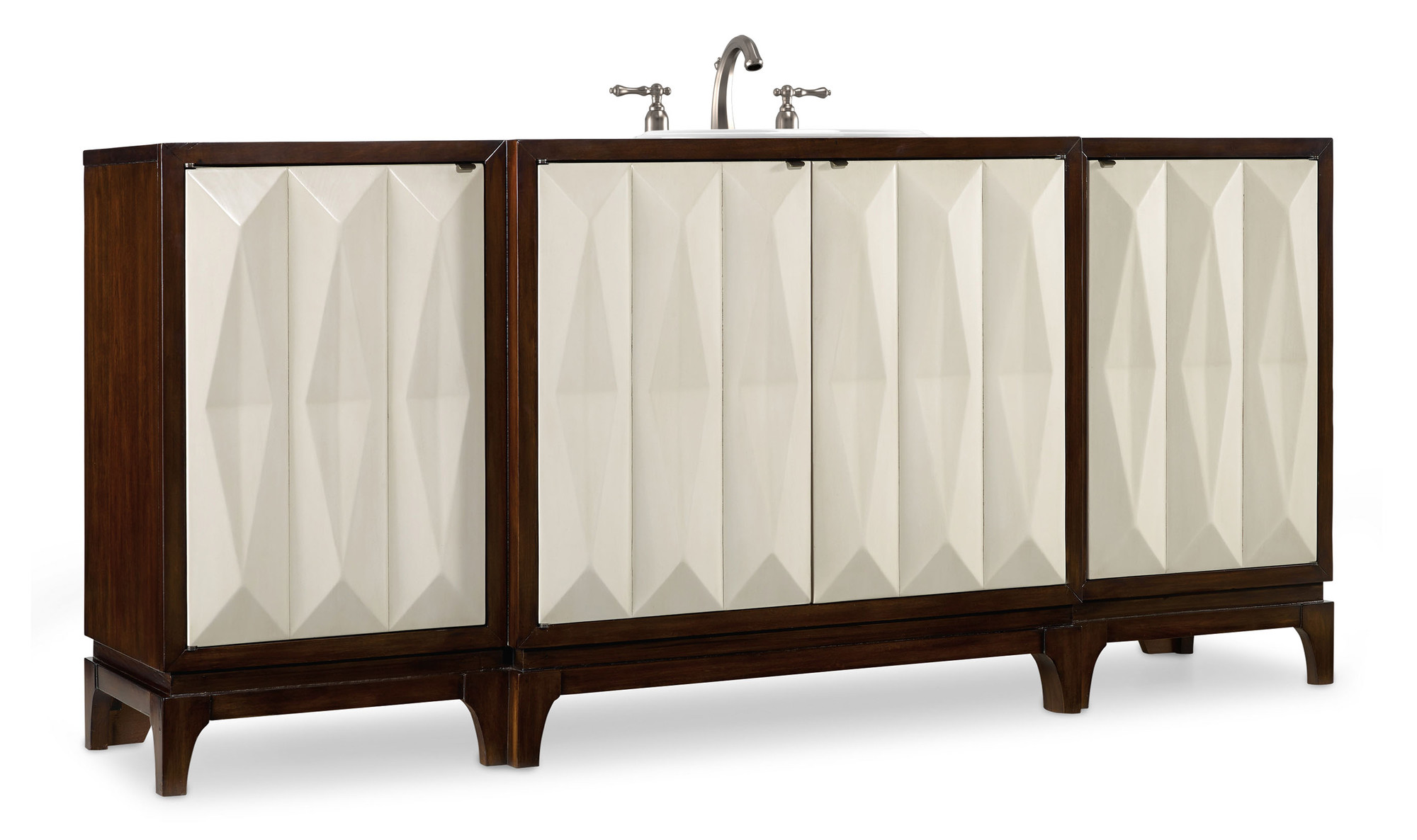 Slaton 78 inch Hall Chest Bathroom Vanity by Cole & Co. Designer Series