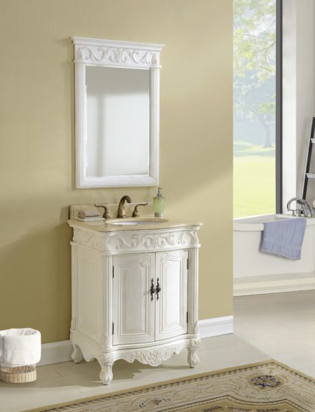 """27"""" Antique White with Matching Medicine Cabinet"""