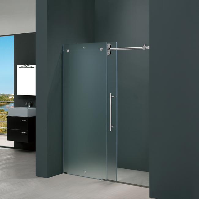 Frameless Shower Door Chrome and Stainless Steel Hardware Options