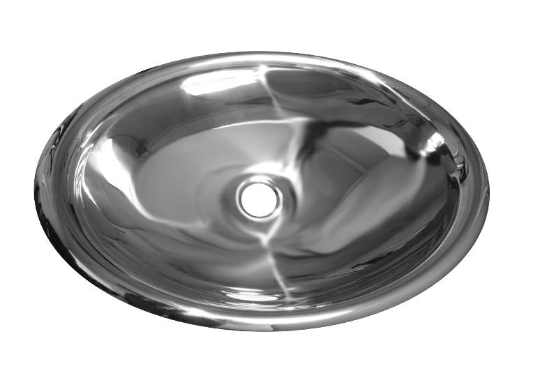 Noah's Collection Mirrored Stainless Steel Drop-In/Undermount Bathroom Basin