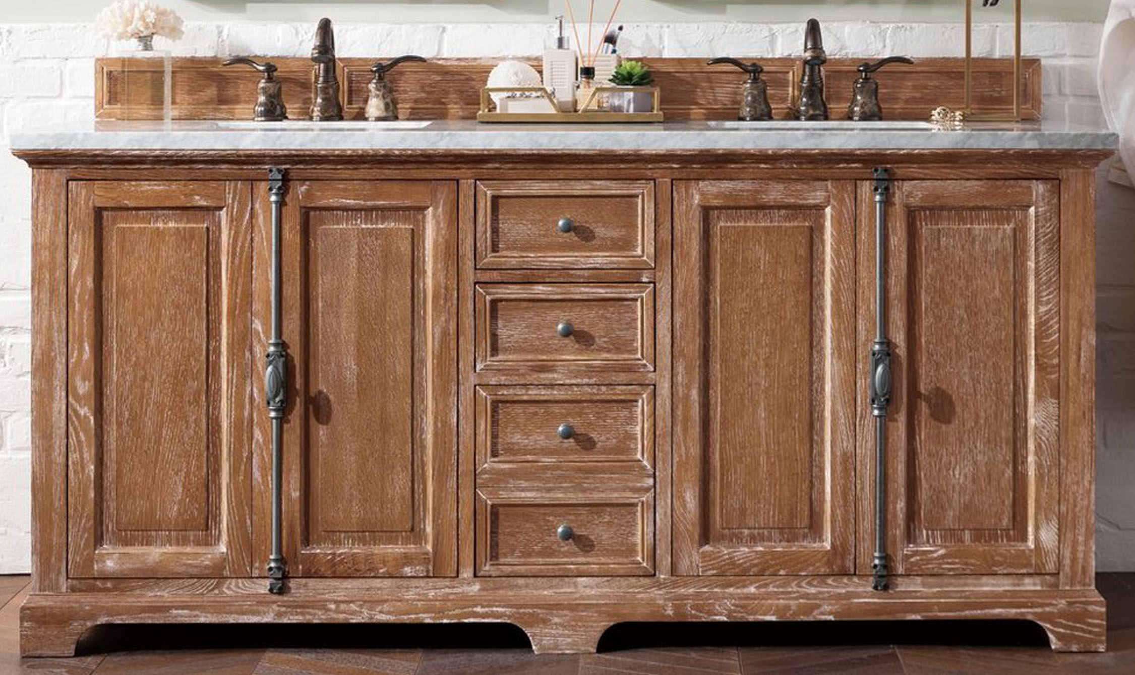 """James Martin Providence Collection 72"""" Double Vanity, Driftwood"""