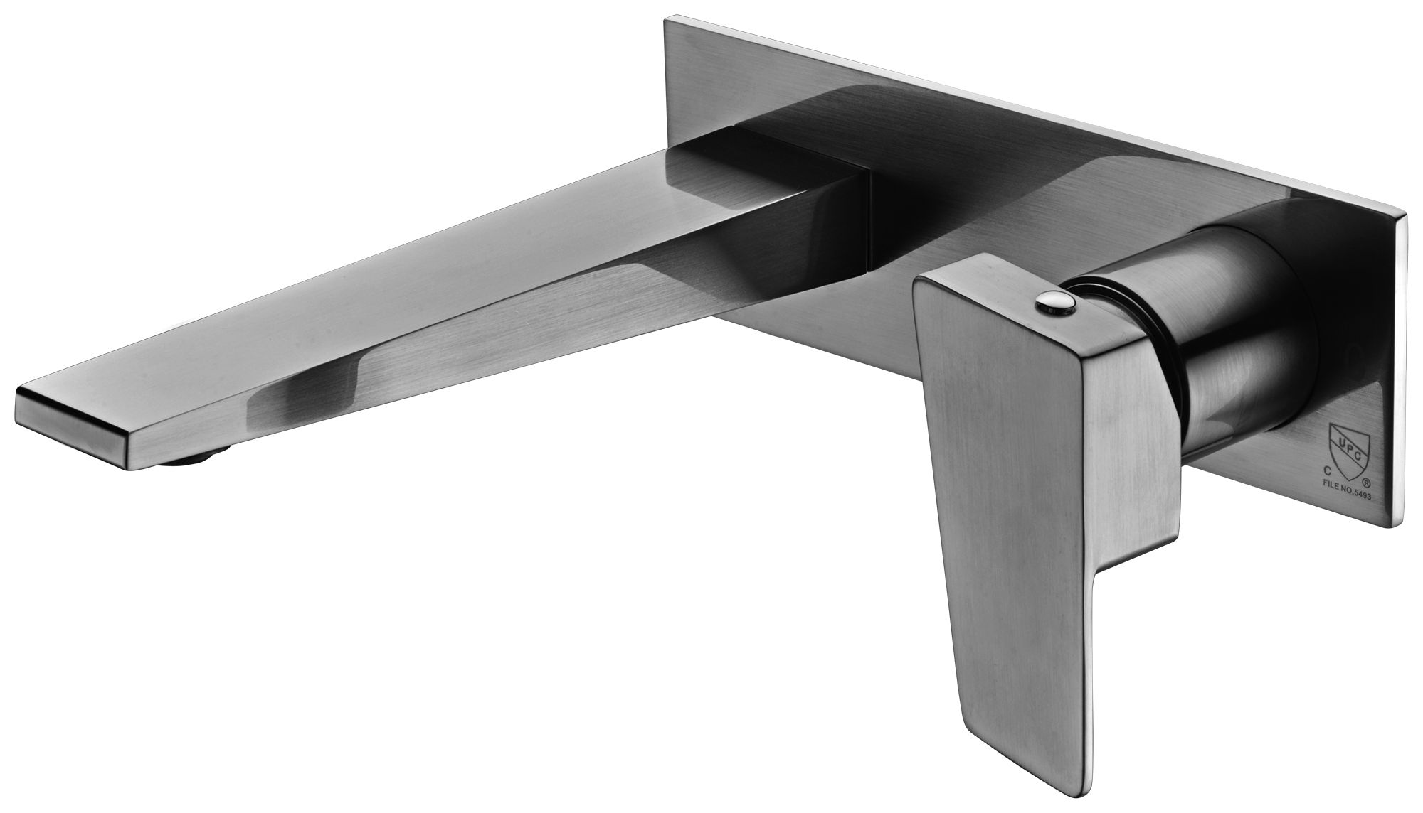 ALFI Brand AB1472 Brushed Nickel or Polished Chrome Wall Mounted Bathroom Faucet