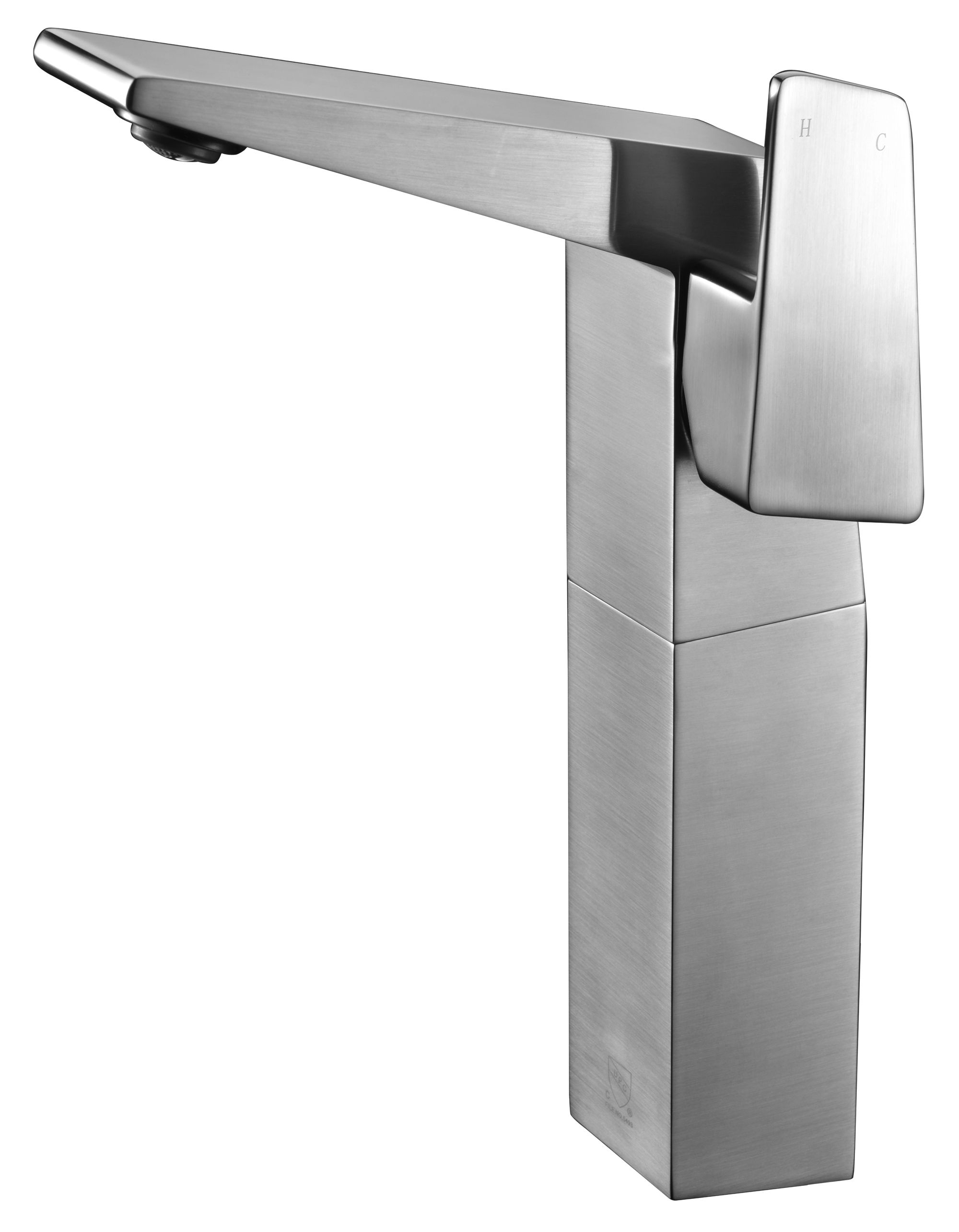 ALFI Brand AB1475 Brushed Nickel or Polished Chrome Single Hole Tall Bathroom Faucet