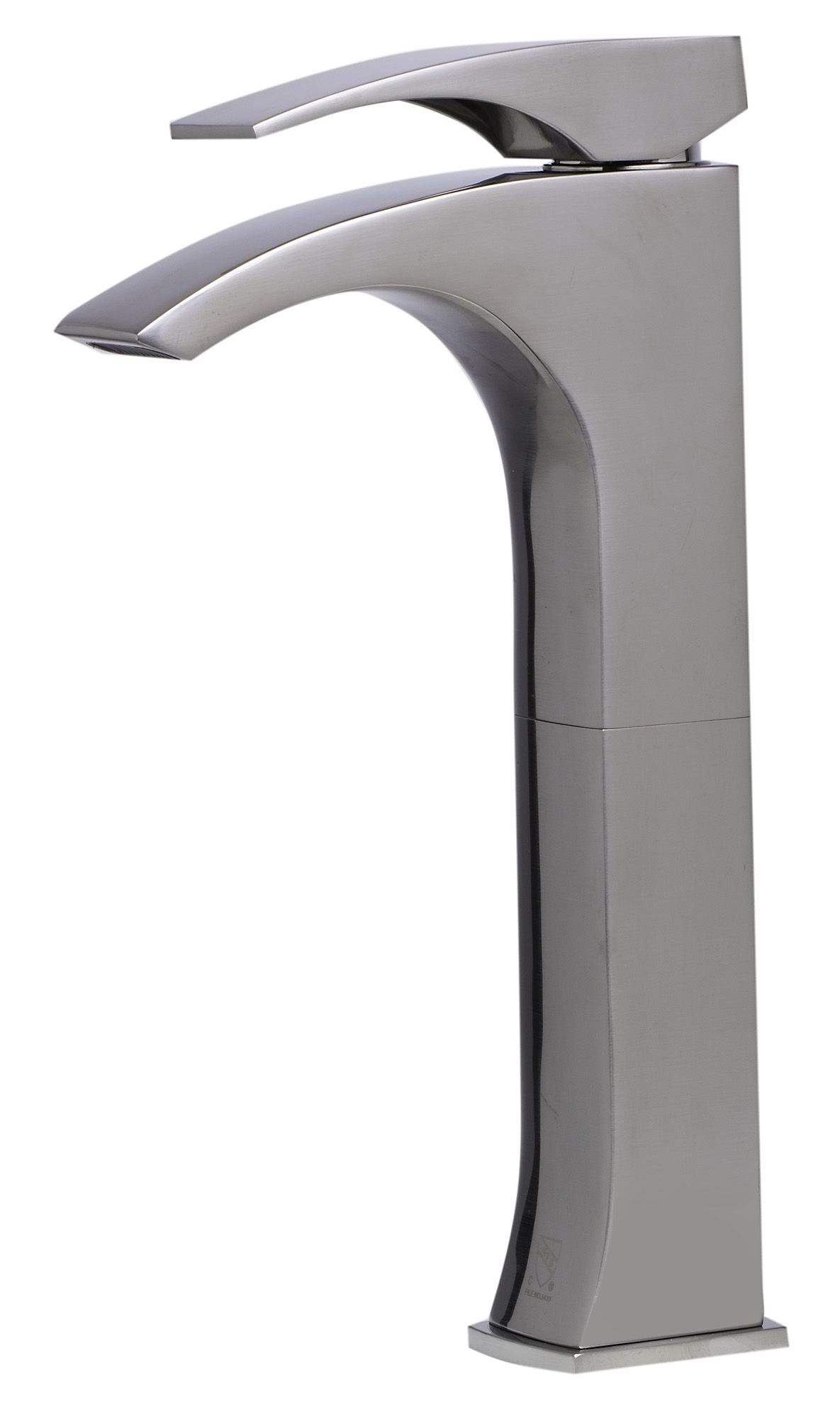 ALFI Brand AB1587 Tall Brushed Nickel or Polished Chrome Single Lever Bathroom Faucet