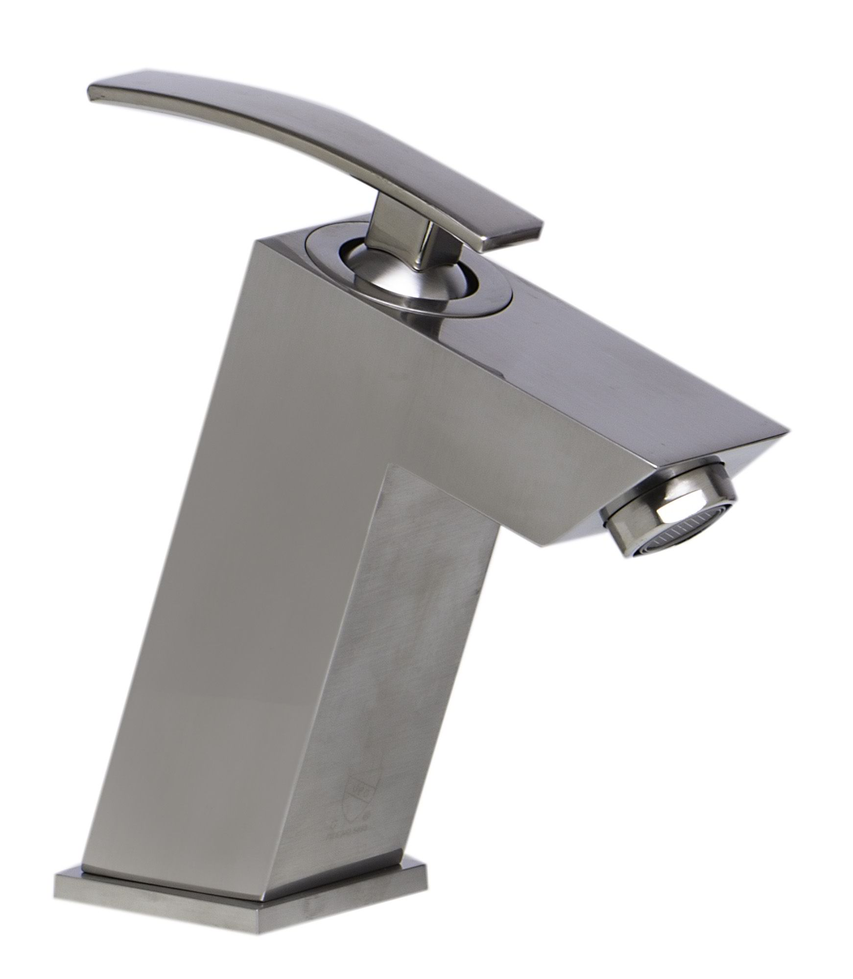 ALFI Brand AB1628 Brushed Nickel or Polished Chrome Single Lever Bathroom Faucet