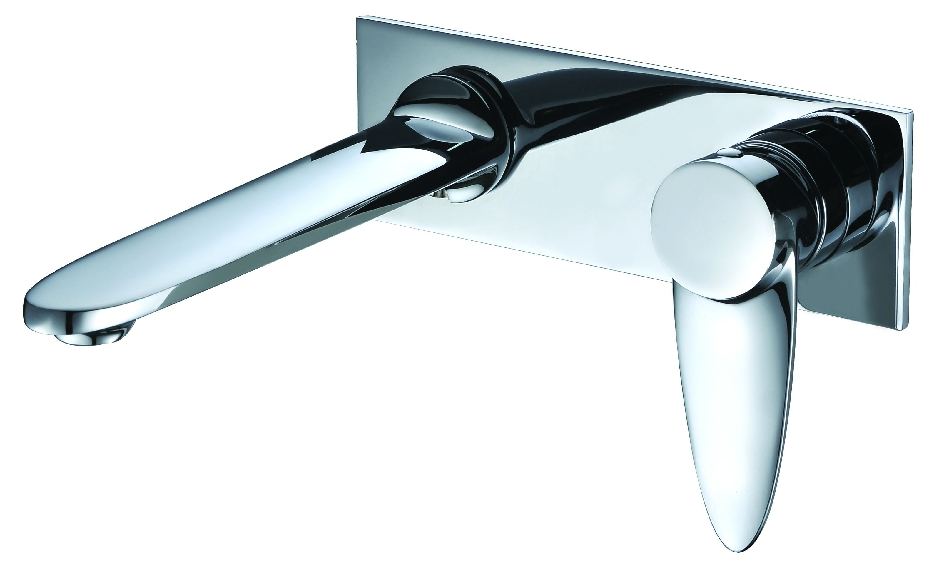 ALFI Brand AB1772 Brushed Nickel or Polished Chrome Wall Mounted Modern Bathroom Faucet