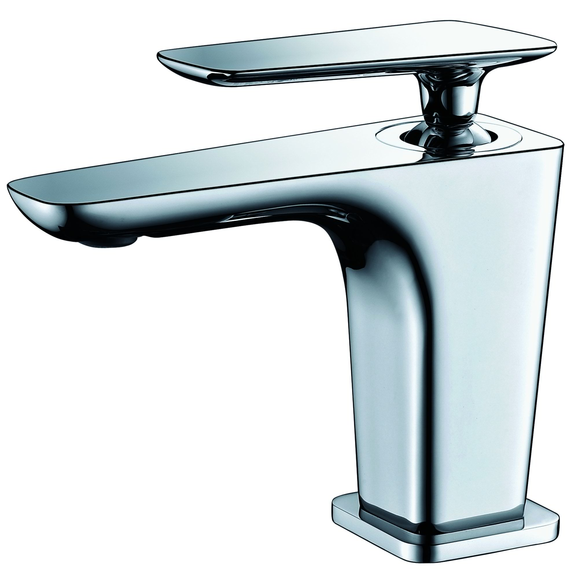 ALFI Brand AB1779 Brushed Nickel or Polished Chrome Single Hole Modern Bathroom Faucet
