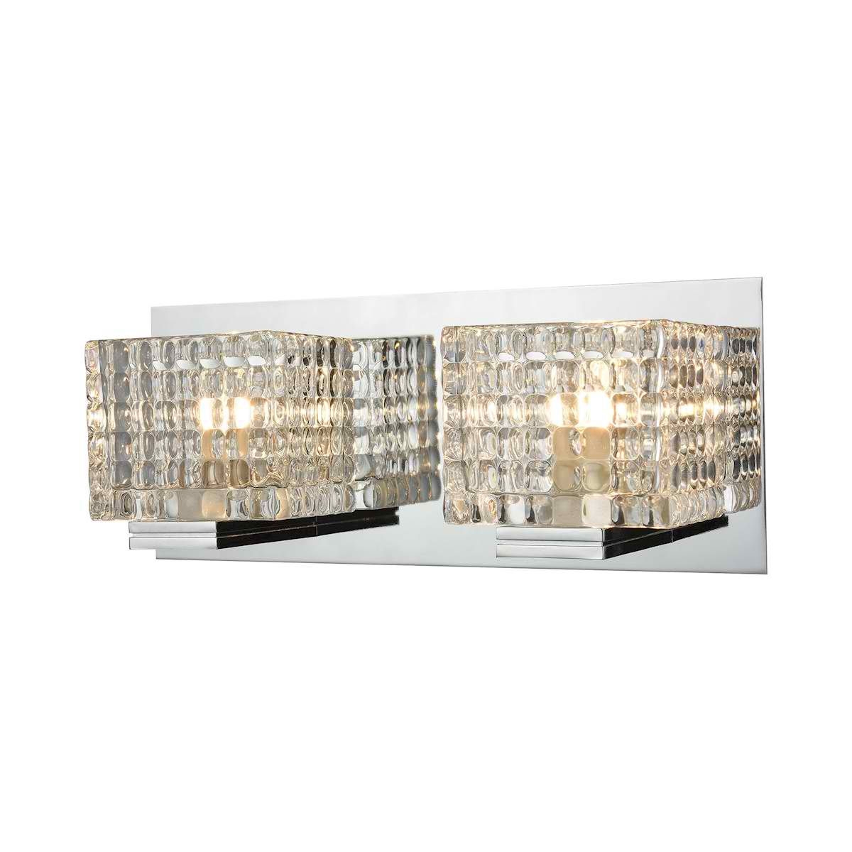 2 Light Vanity in Chrome and Clear Glass
