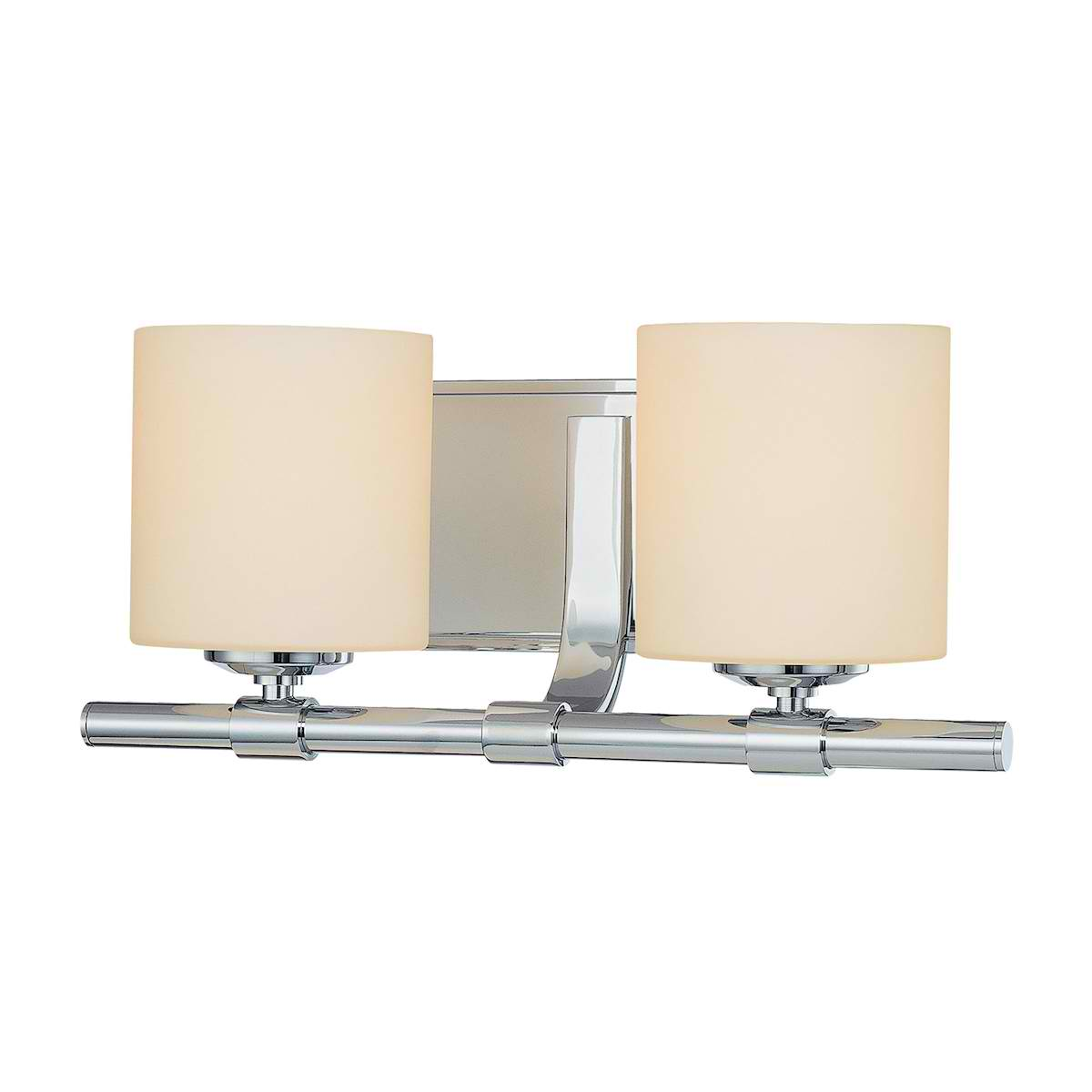 Slide Double Lamp with Cylinder White Opal Glass / Chrome finish