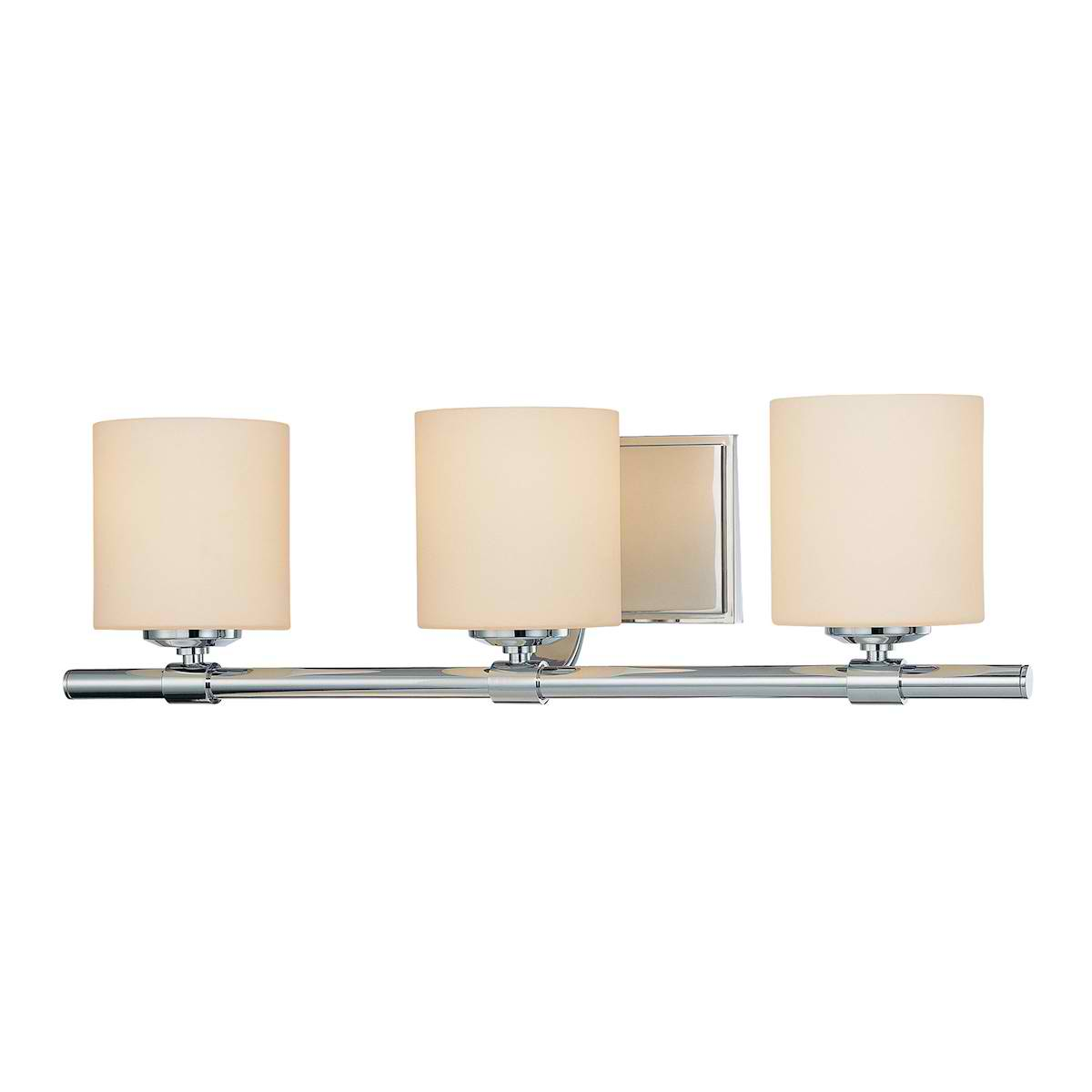 Slide Triple Lamp with Cylinder White Opal Glass / Chrome finish