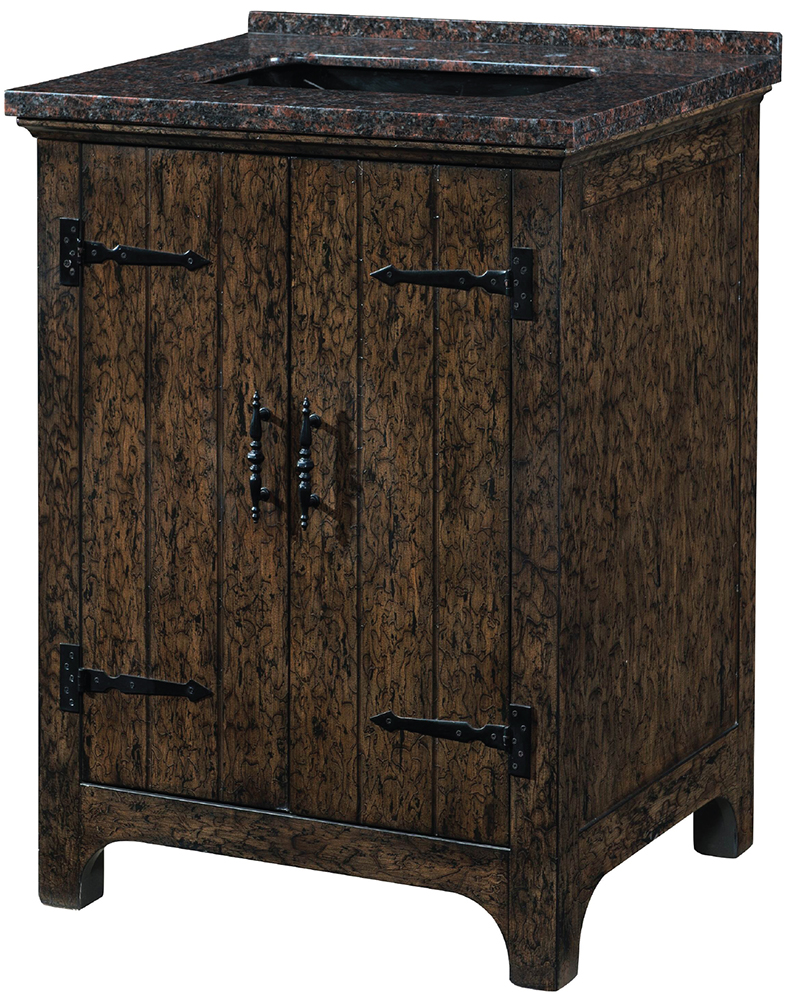"Carmel Bay 28"" Single Sink Dark Distressed Wood Vanity"
