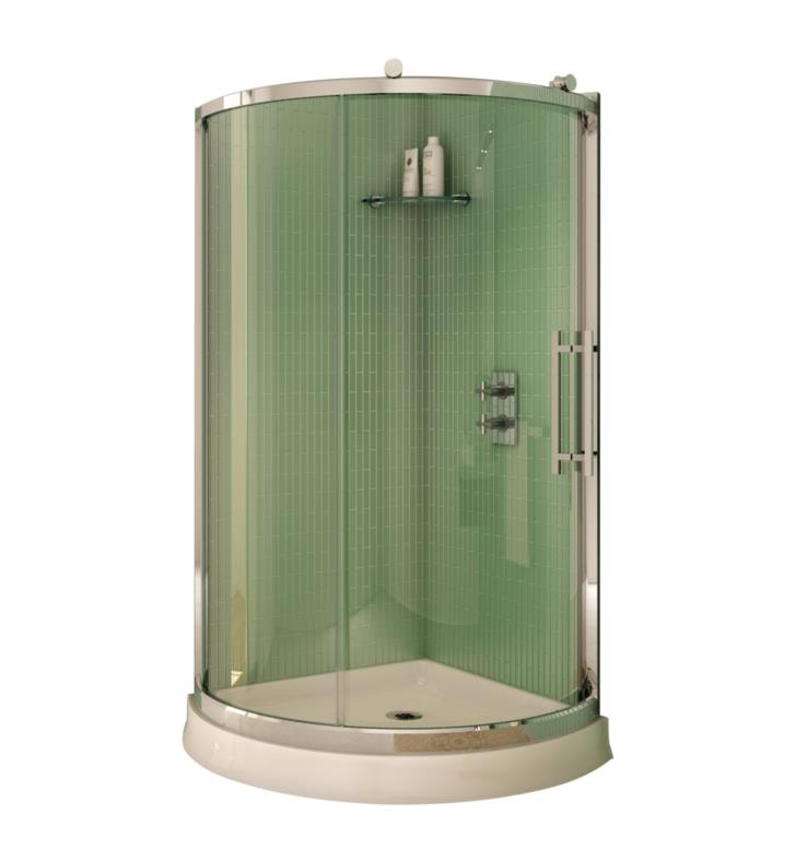 "Fleurco Sorrento Arc 36"" Framed Corner Sliding Shower Enclosure"