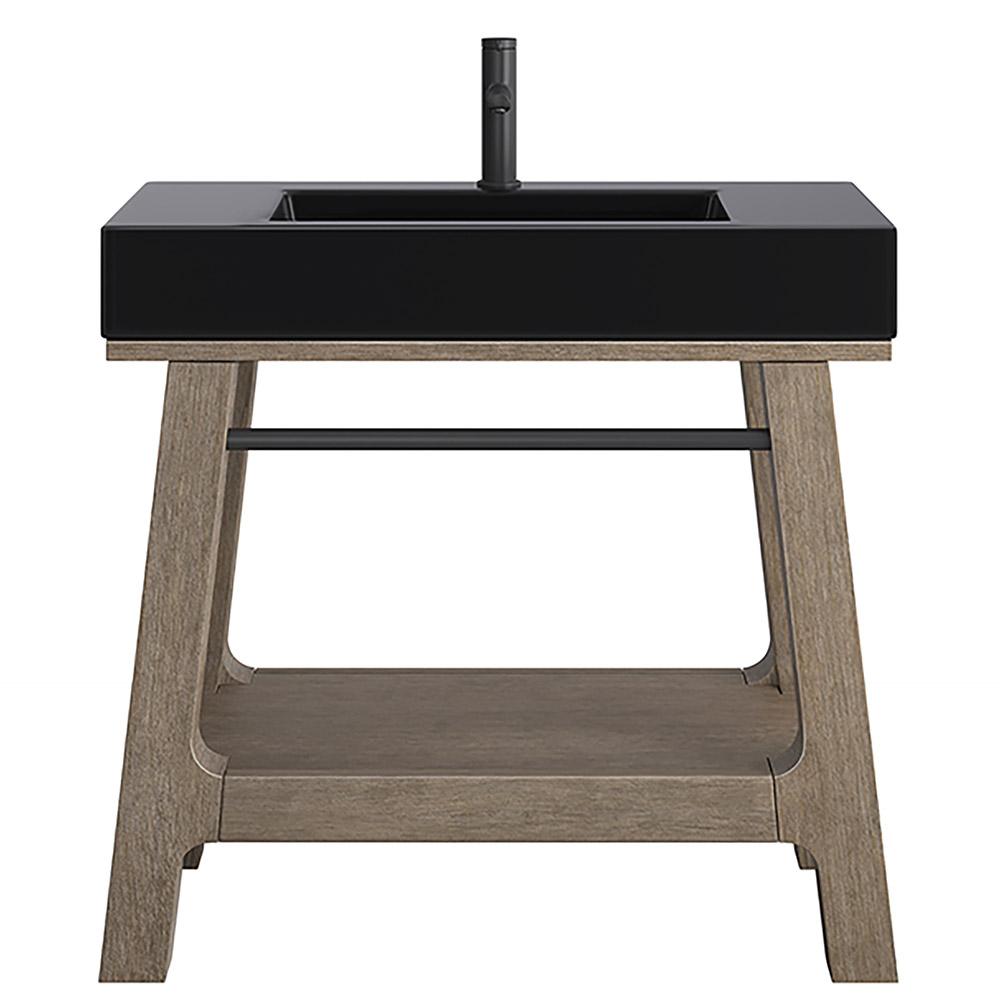 "Chesapeake 36"" Single Sink Gardenia White Top Distressed Finish"