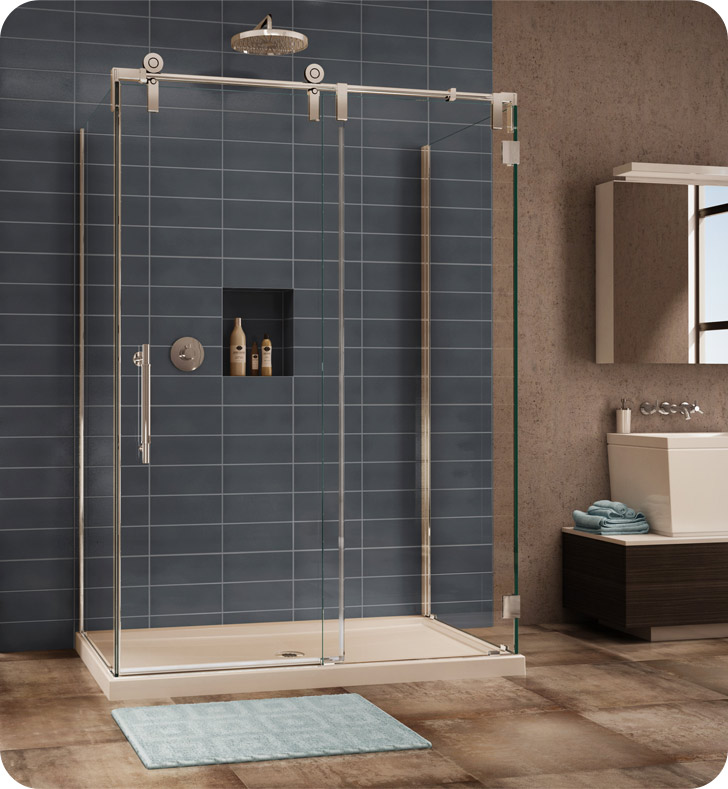 Fleurco Kinetik In Line Door and Panel with Return Panels (Three Sided)