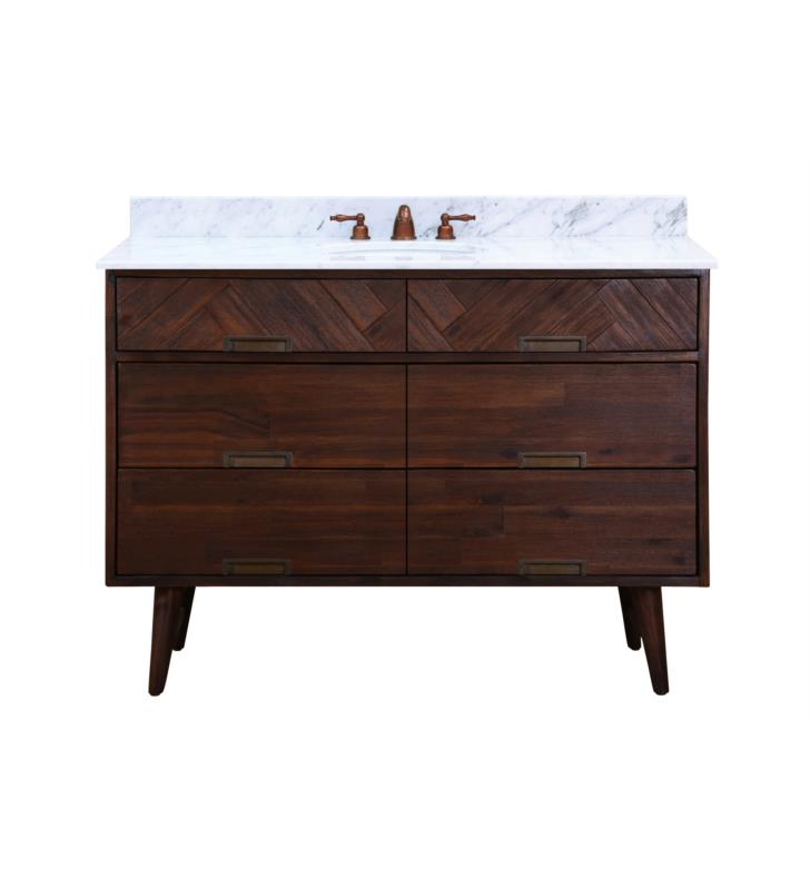 "Issac Edward Collections 48"" Free Standing Single Bathroom Vanity in Dark Chocolate"