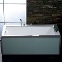 EAGO AM151-L 6 ft Rectangular Acrylic Left Drain Whirlpool Bathtub