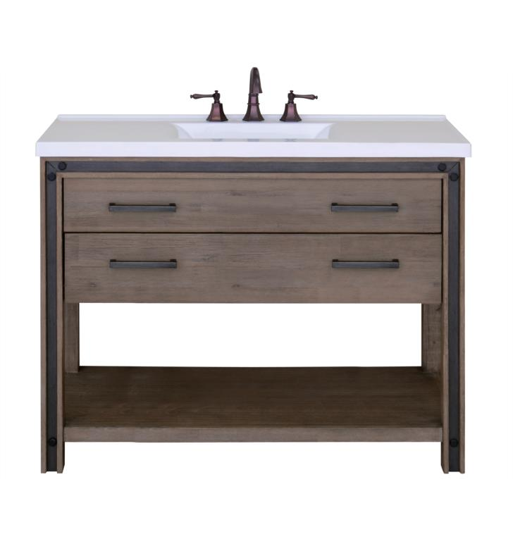 "Issac Edward Collections 48"" Free Standing Single Bathroom Vanity in Rustic Cocoa"