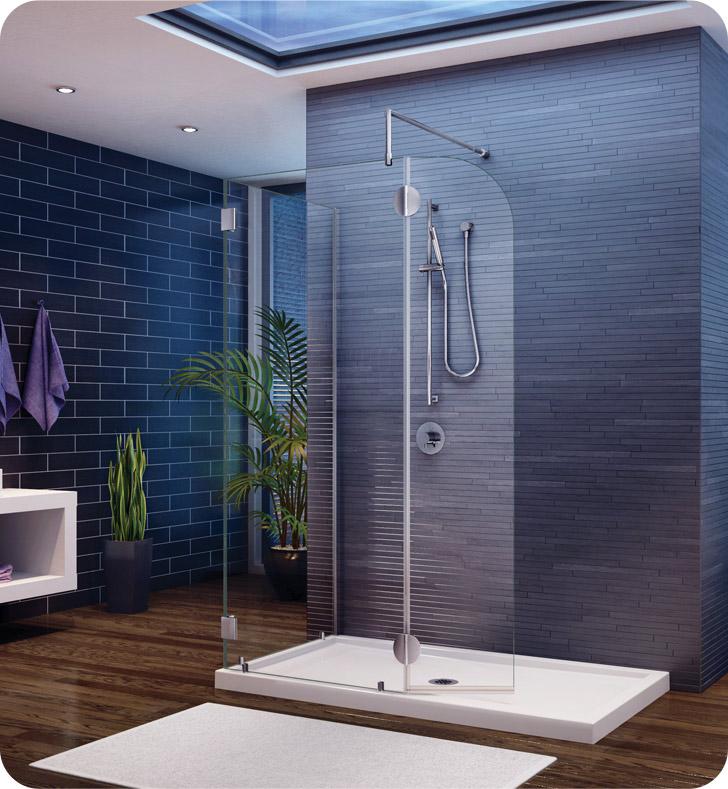 Fleurco Evolution 4' Shower Enclosure with Round Top