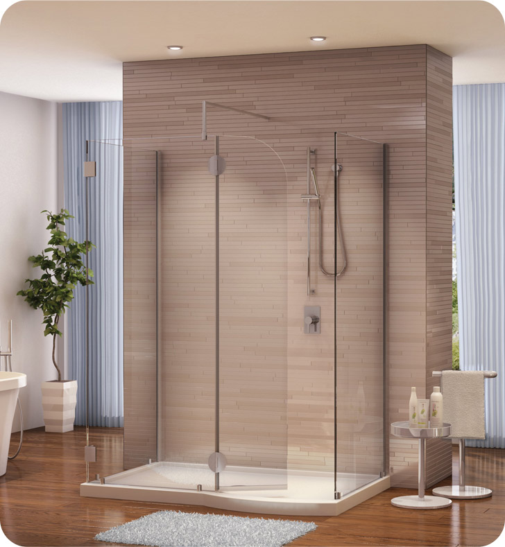 Fleurco V56305 Evolution 5' Walk in Shower Enclosure with Round Top