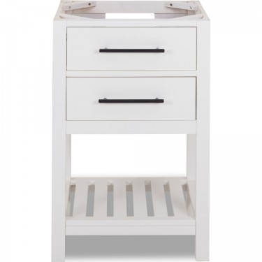 """24"""" Wavecrest White Limited Edition Bathroom Vanity Base with Color and Top Option"""