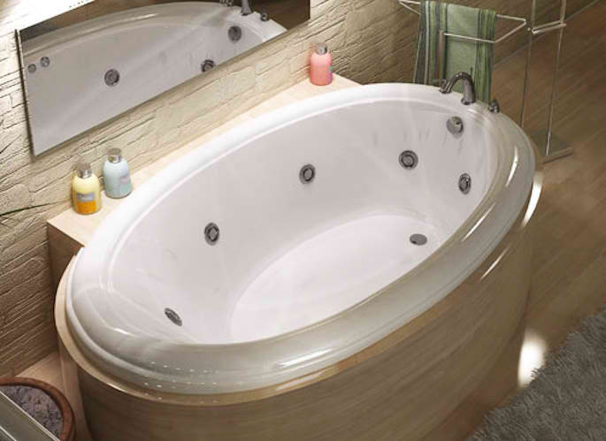 Whirlpools 44 x 78 Oval Soaking Bathtub