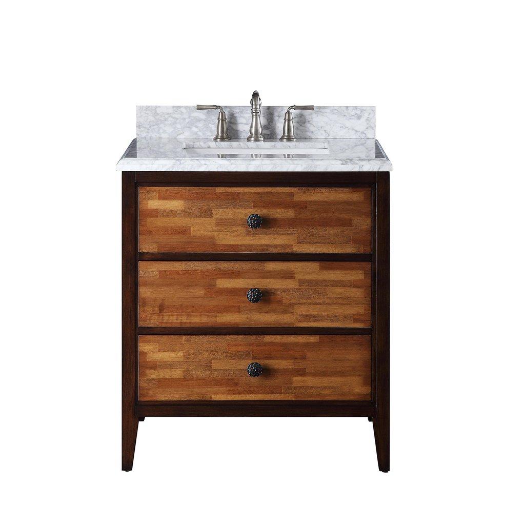 """Adelina 31"""" Urban Modern Eclectic Bezo Sink Bathroom Vanity"""